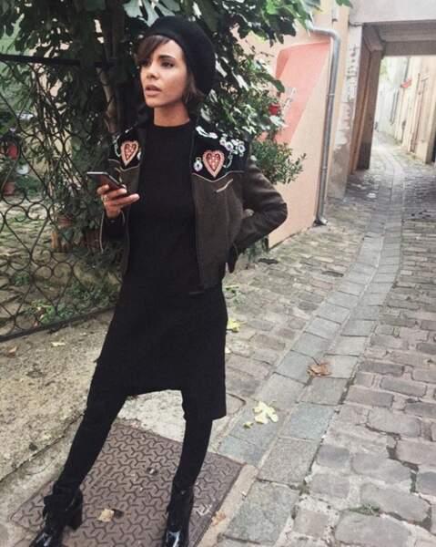 Shy'm en mode parisienne