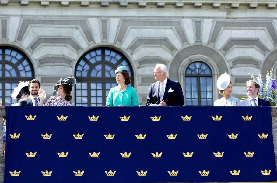 Toute la famille royale de Suède est présente pour célébrer les 40 ans de la princesse Victoria.