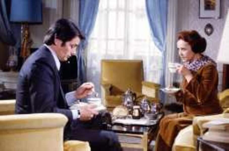 La belle Jeanne Moreau face à Alain Delon dans La race des seigneurs (1973)