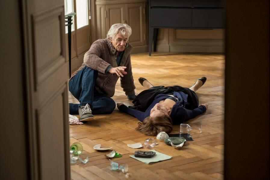 Paul Verhoeven et Isabelle Huppert sur le tournage de Elle (21/09)