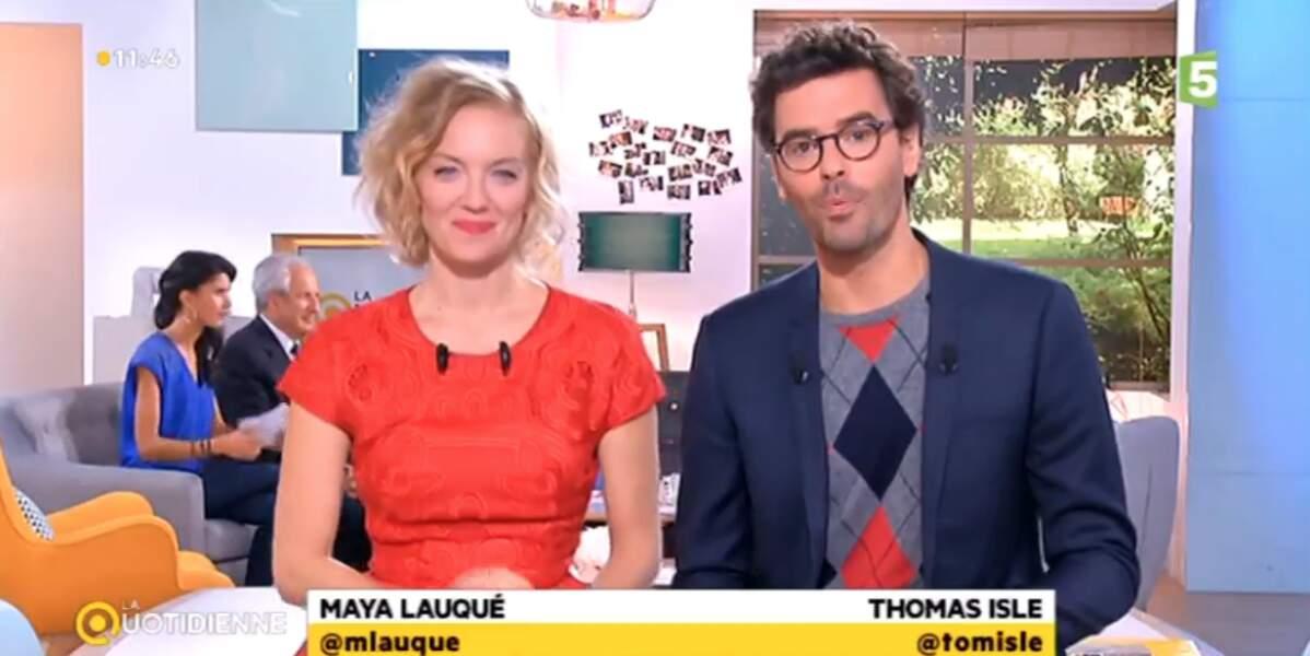 Et on termine avec les tenues un peu class(iqu)es de Maya Lauqué et Thomas Isle