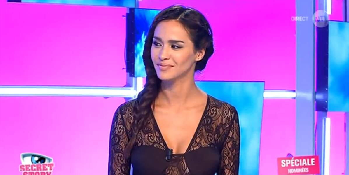 Leila Ben Khalifa est elle aussi en noir... et elle est ultra glamour