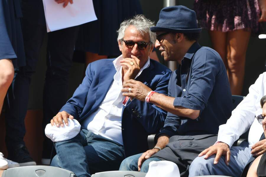 Manu Katché, décidément de très bonne humeur, aux côtés de Richard Anconina