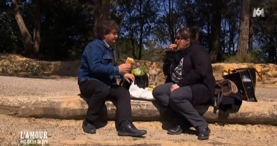 Pause sandwich pour Michel et Sandrine