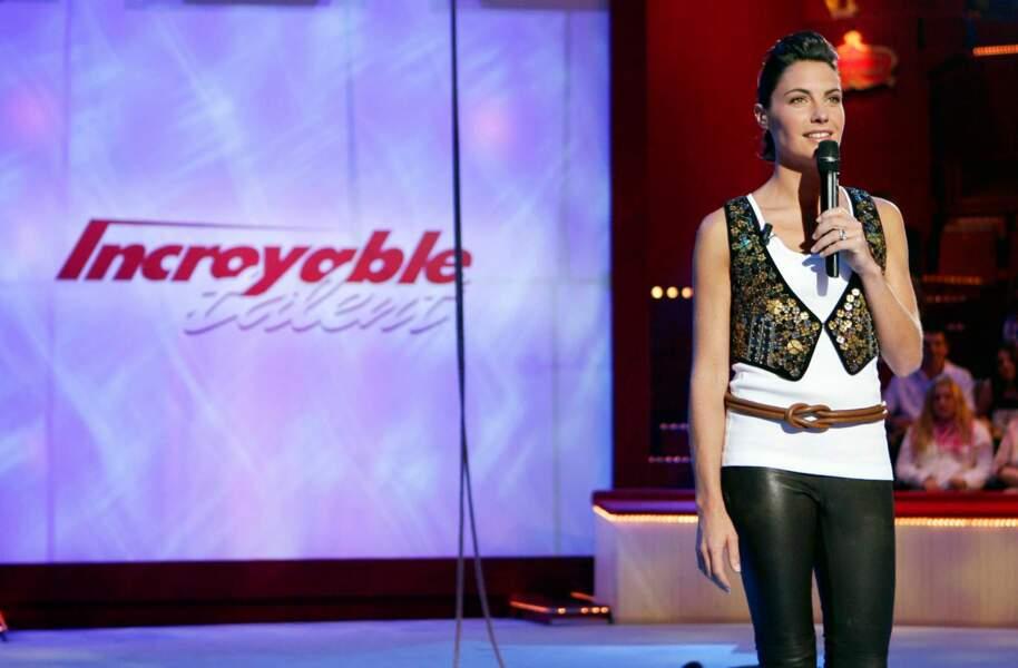 Alessandra Sublet à la présentation de La France a un incroyable talent (2006-2008)