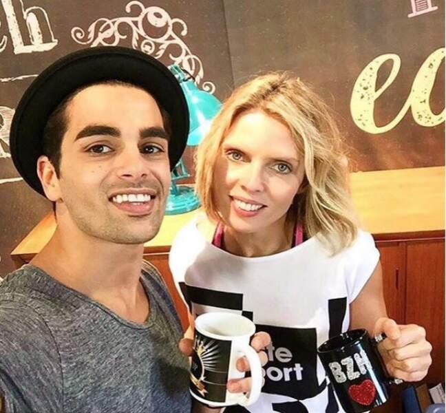 Sylvie Tellier avec son partenaire Christophe Licata lors de la saison 7 (2016)