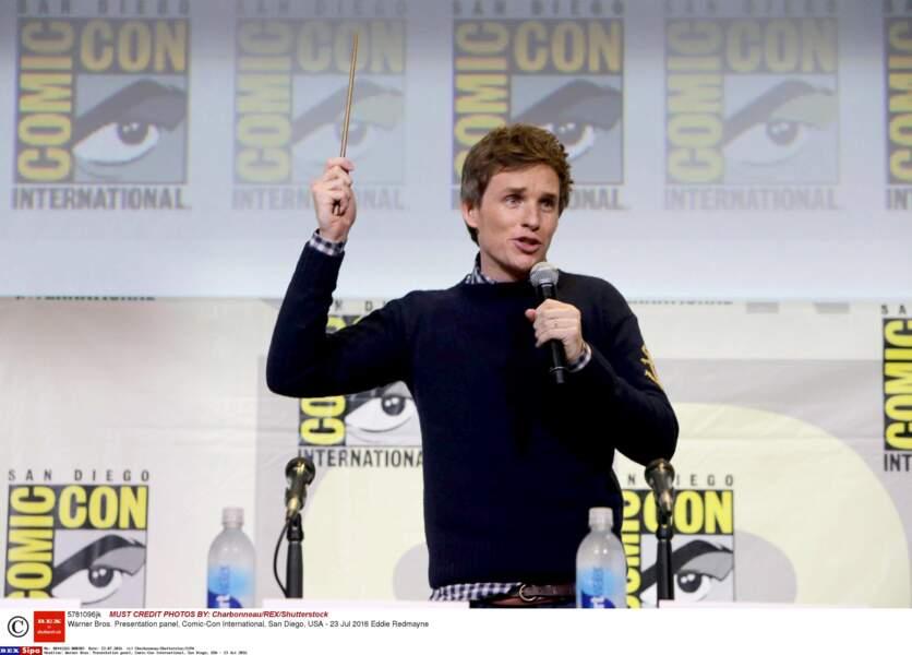 L'acteur britannique est même venu avec sa baguette, mais n'a pas réussi à jeter un sort