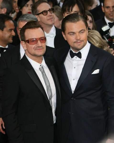Leonardo Dicaprio et Bono élégants sur le tapis rouge !