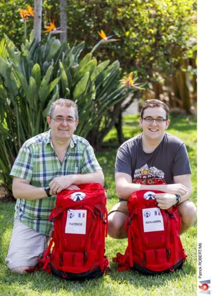Il y a Patrice et Benjamin, le père et son fils
