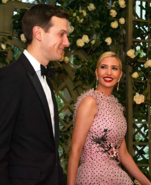 ... avec des invités aussi prestigieux qu'Ivanka, la fille de Donald Trump, et son mari Jared Kushner