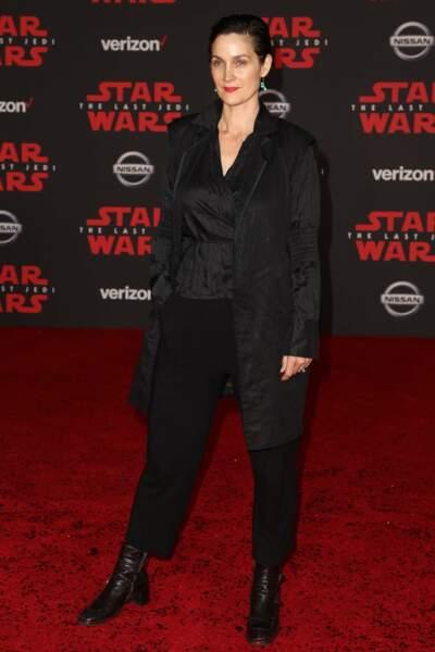 Et pour Carrie-Anne Moss c'est plutôt la force noire...