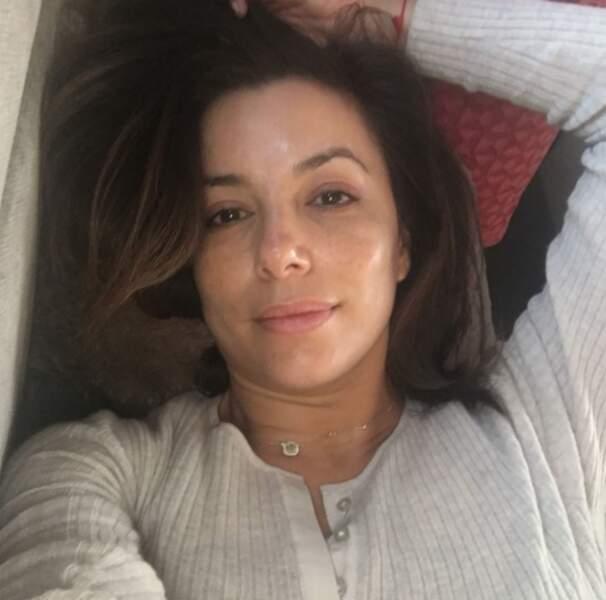 Eva Longoria au réveil sans maquillage