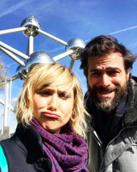 Le tournage continue à Bruxelles pour Bérengère Krief et Grégory Fitoussi.