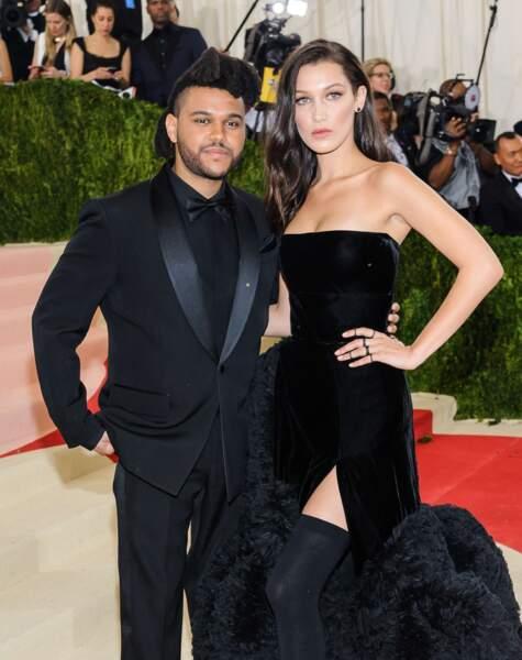 La top-model Bella Hadid et le chanteur The Weeknd, en couple depuis 2015.