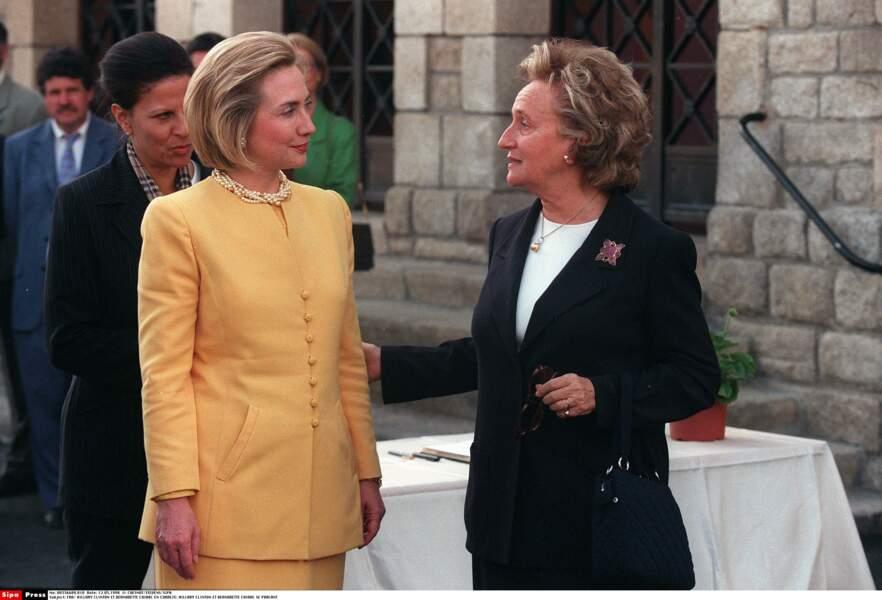 12 mai 1998, elle reçoit la First Lady américaine Hillary Clinton en Corrèze !