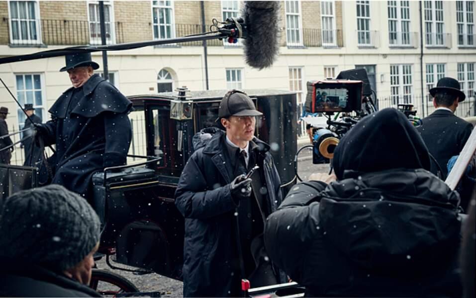 Un tournage sous la neige