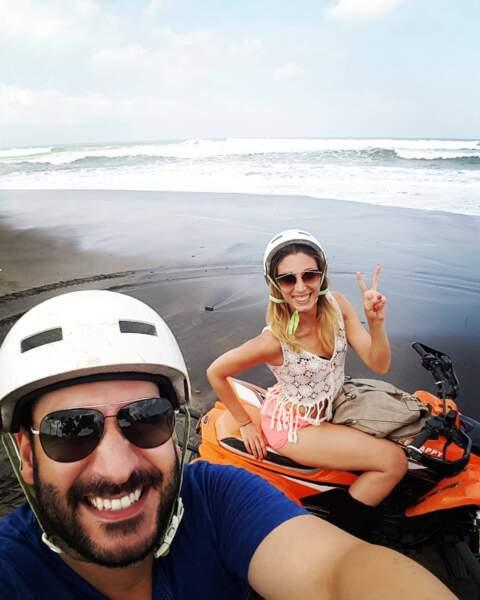 Certains sont partis en vacances en amoureux, comme Denny Imbroisi et Silvia Notargiacomo à Bali.
