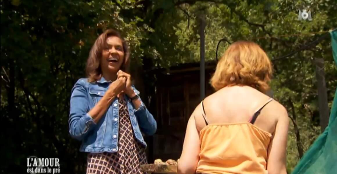 La bonne blague ! Monique a demandé à Karine si elle marchait à la vitesse d'un escargot !