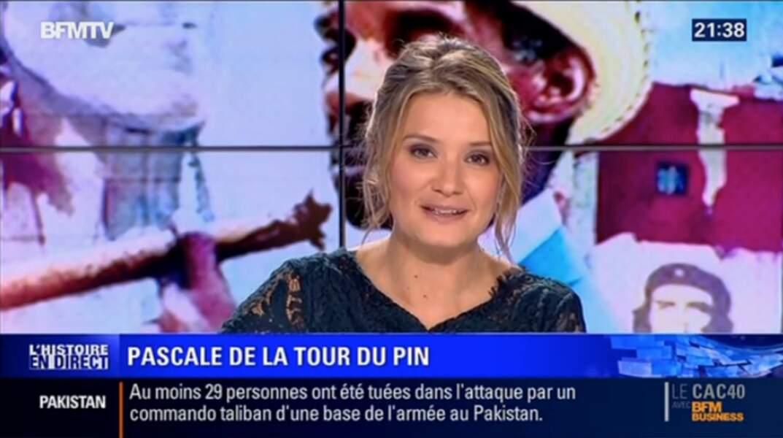Pascale de La Tour du Pin co-présente la matinale de BFMTV et l'émission L'Histoire en direct