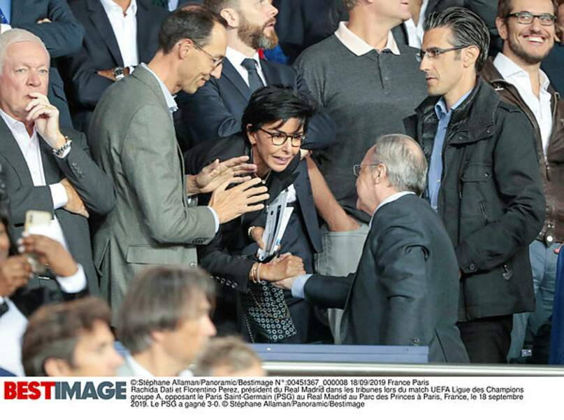 Rachida Dati et Florentino Perez, président du Real Madrid