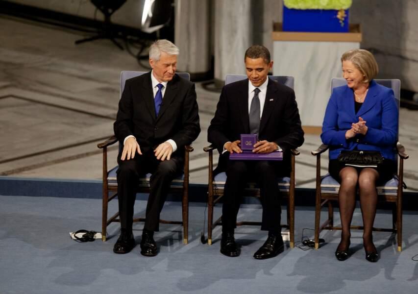 10 décembre 2009 : Barack Obama reçoit le Prix Nobel de la Paix