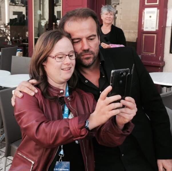 L'occasion de belles rencontres, comme celle-ci avec Marie Dal Zotto, star du téléfilm Mention particulière (TF1)