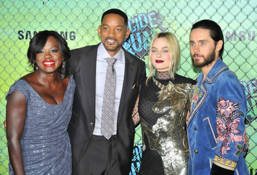 Viola Davis, Will Smith, Margot Robbie et Jared Leto, quatre des acteurs principaux du projet