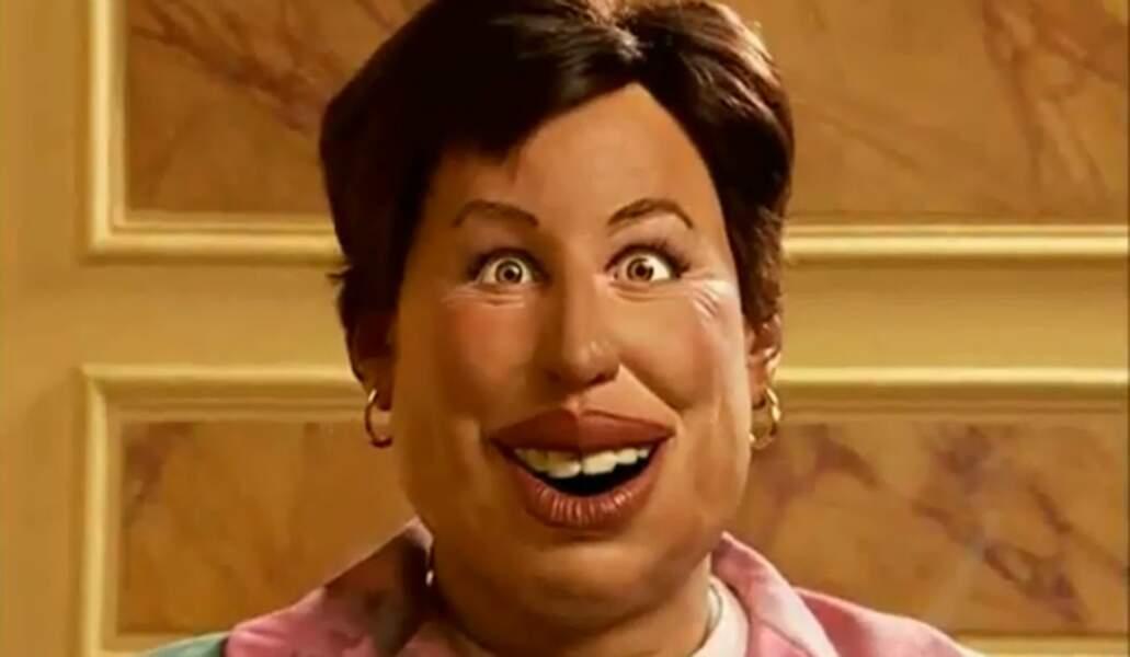 """La marionnette de Roselyne Bachelot, qui a """"horriblement blessé"""" l'intéressée."""