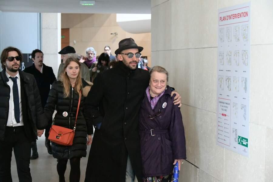 JR et la comédienne Déborah François