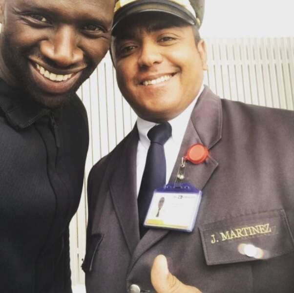 Omar Sy à l'hôtel Martinez de Cannes ? Non ! L'acteur s'en amuse en postant cette photo