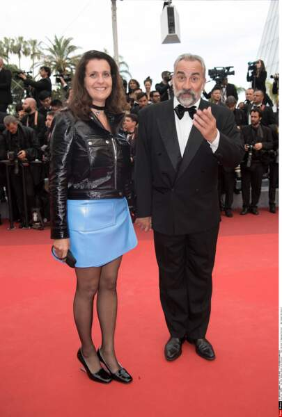 """Antoine Duléry et madame, qui aurait aussi sa place dans notre diaporama """"fashion faux-pas"""""""