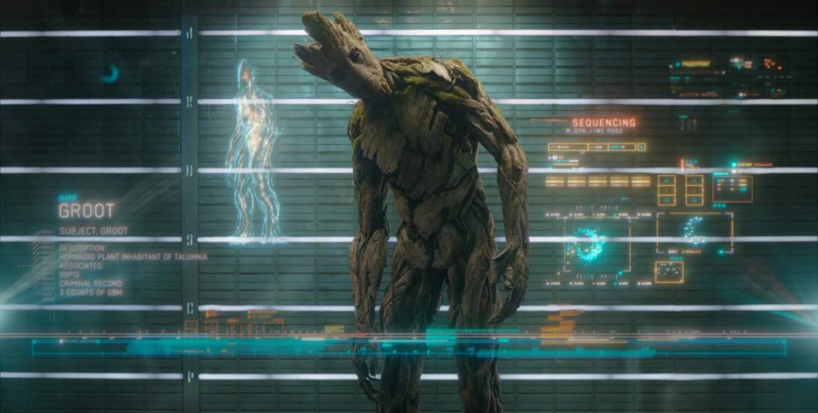 """Le vocabulaire de Groot ne comporte qu'un seul mot : """"Groot""""."""