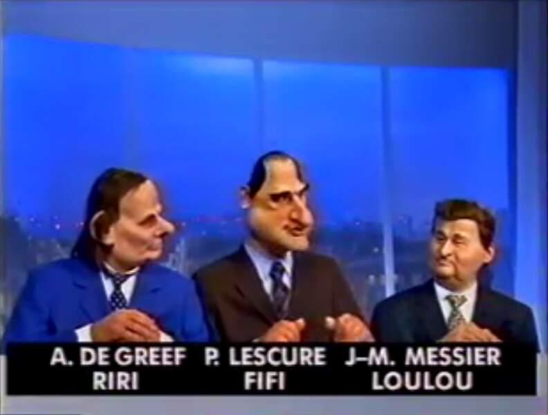 Le regretté Alain de Greef et Pierre Lescure, anciens dirigeants de Canal+ et Jean-Marie Messier ancien actionnaire
