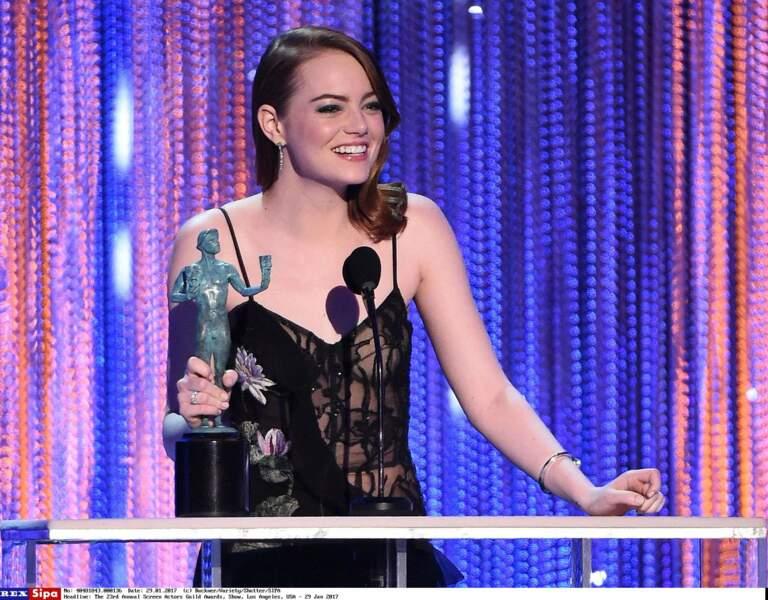 Aux Golden Globes notamment, mais aussi à travers une nomination à l'Oscar de la meilleure actrice.