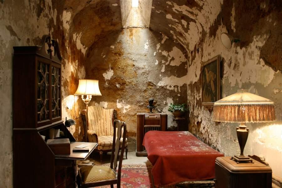 La cellule d'Al Capone, où il a séjourné en 1929.