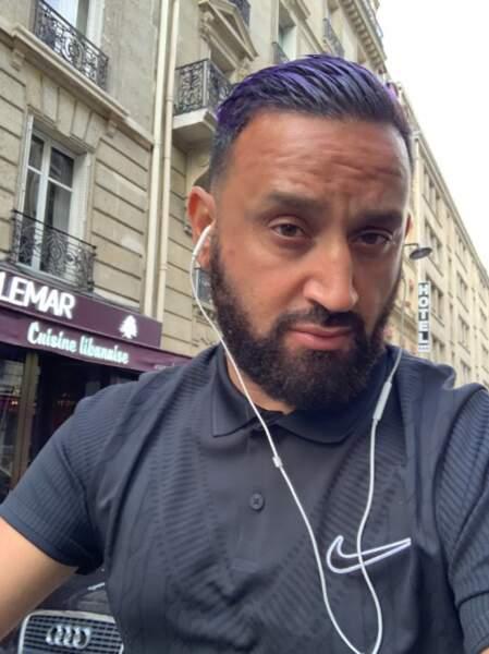 Quant à Cyril Hanouna...il s'est teint les cheveux en violet !