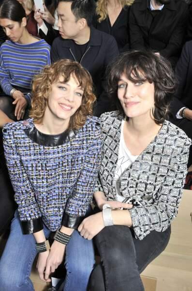 Celine Salette et Clotilde Hesme au premier rang