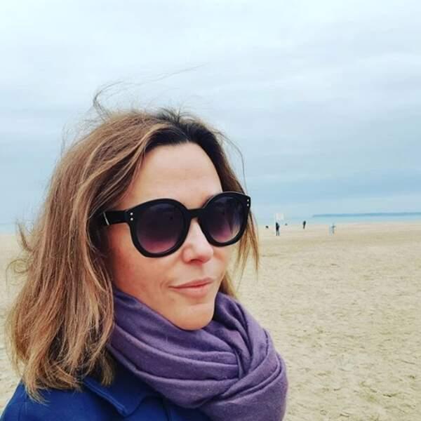 Et Sandrine Quétier s'est pris la flotte à Trouville.