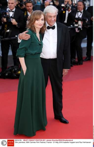 Le réalisateur Paul Verhoeven est arrivé avec son actrice Isabelle Huppert