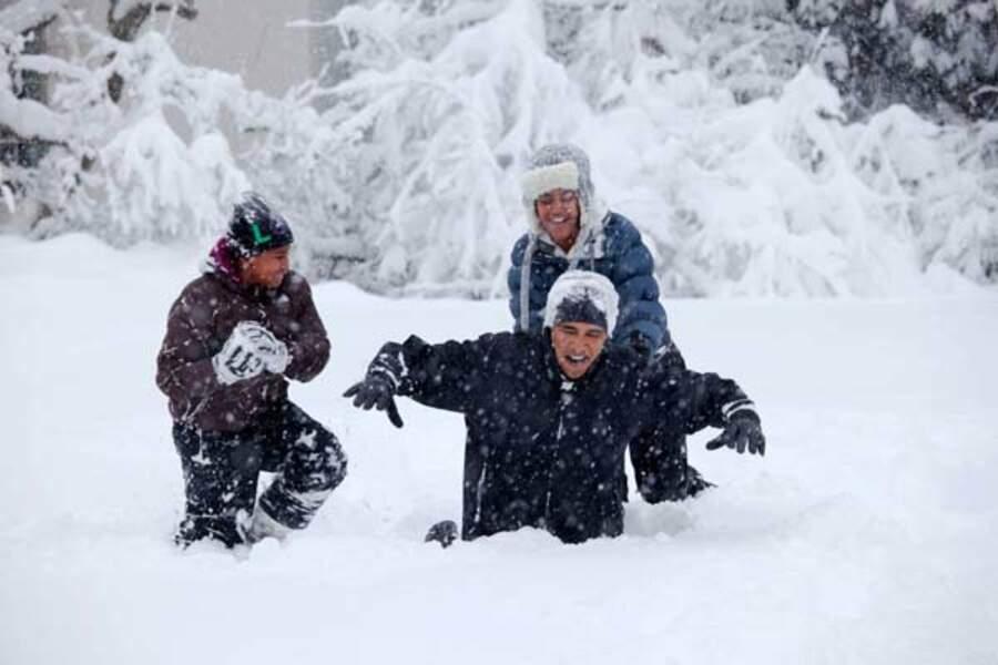 Dans la neige de l'hiver à Washington...