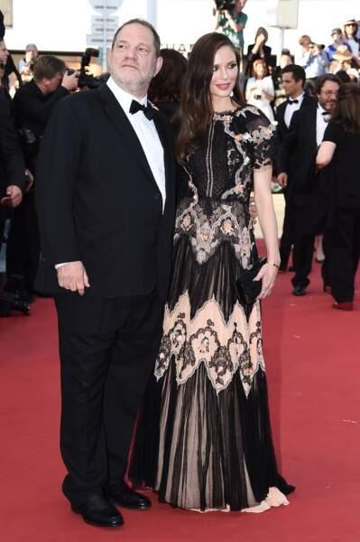 Harvey Weinstein et Georgina Chapman lors de la montée des marches pour Le Petit Prince