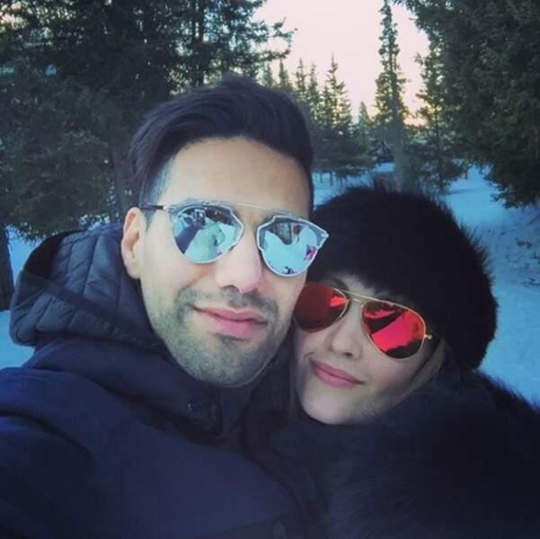 Le couple s'est offert une virée au ski