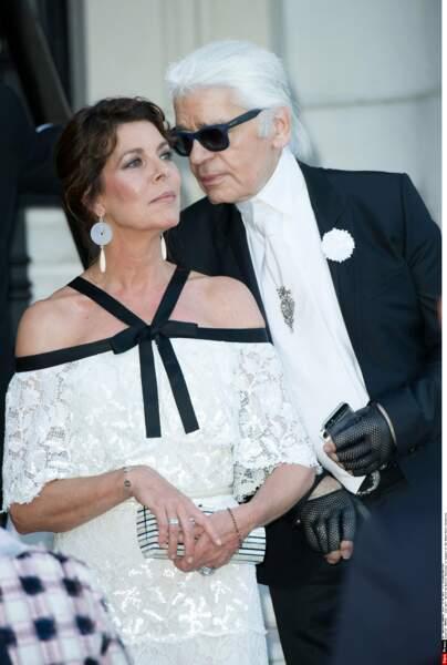 Fidèle à Chanel, elle est aussi fidèle à son grand ami Karl Lagerfeld