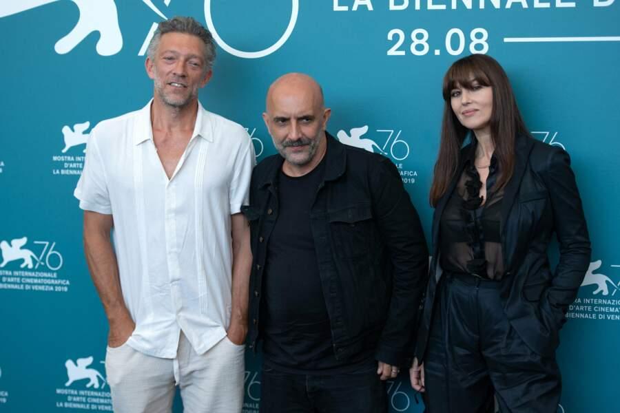 Vincent Cassel, Gaspar Noe et Monica Bellucci, venus présenter une nouvelle version d'Irréversible