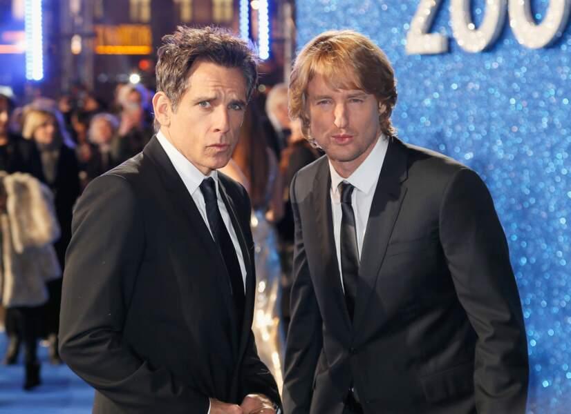 """Ben Stiller et Owen Wilson, les stars du film et pros du """"look"""" ne sont jamais les derniers pour faire les pitres"""