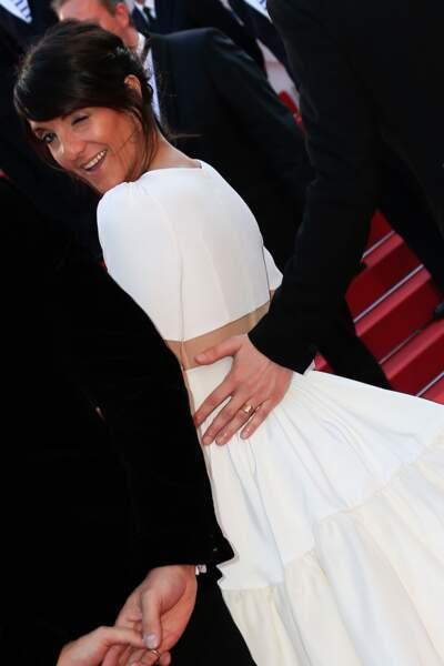 Florence Foresti lors de la montée des marches pour Le Petit Prince, au 68ème Festival de Cannes.