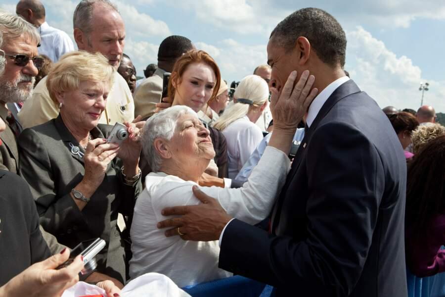 Le Président, toujours proche de ses compatriotes