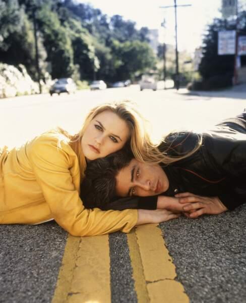 """Alicia partagera même l'affiche avec Benicio dans """"Excess Baggage""""en 1997"""