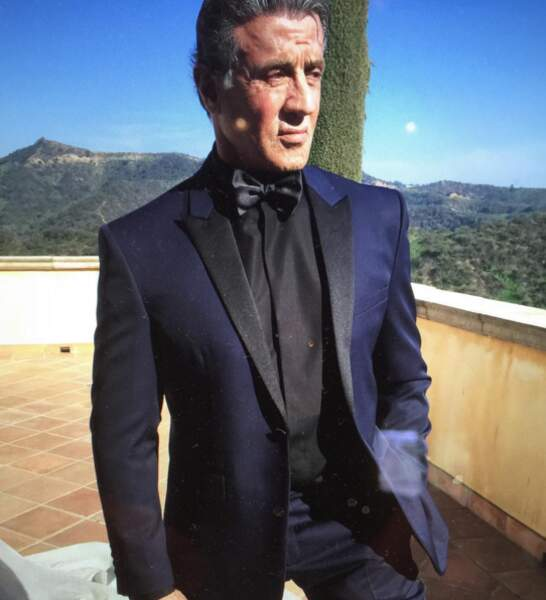 Sylvester Stallone a mis son plus beau costume !