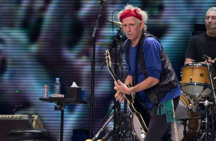 Keith Richards des Rolling Stones en concert à Las Vegas le 11 mai 2013
